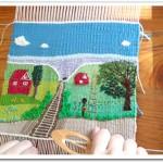 -ファブリック・ピクチャーをつなげて-  絵織りと刺繍創作講座のお知らせ   <東京・調布の絵織り・刺繍教室>